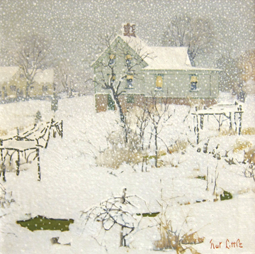 """Nathanial Stanton Little """"A Snowy Afternoon"""""""