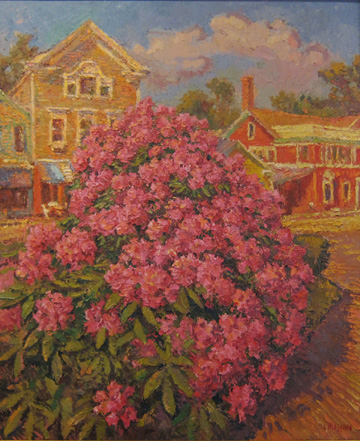 Leif Nilsson, Chester Center with Rhododendrons