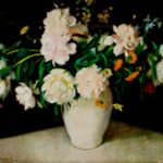 Peonies by Agnes Harrison Lincoln - Mystic Museum of Art Permanent Collection