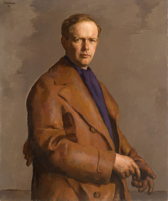 Robert Brackman, Charles A. Lindbergh, 1938. Oil on canvas. Mead Art Museum, Amherst College. Gift of Ann Morrow Lindbergh,
