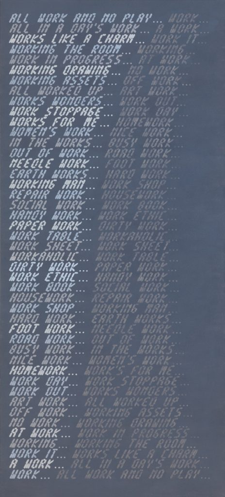 John Boone, Work Grey, 2013, Acrylic on canvas, 108 x 48 inches